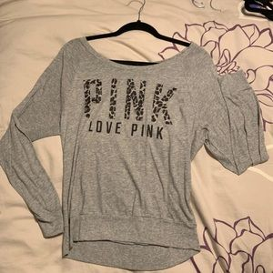 Leopard Logo Pink Long Sleeve